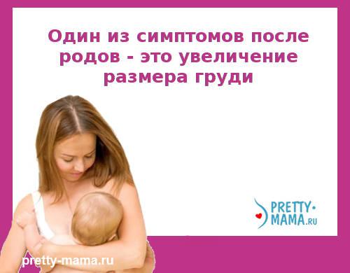 размер груди после родов