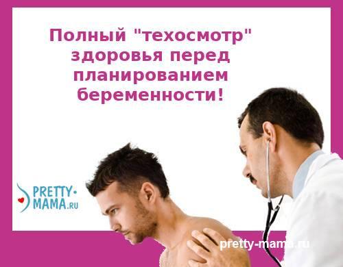 анализы мужчины перед планированием беременности