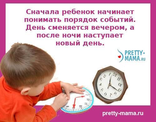 понимание времени у ребенка